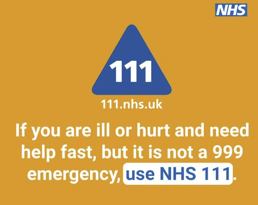 NHS 111 informational advert
