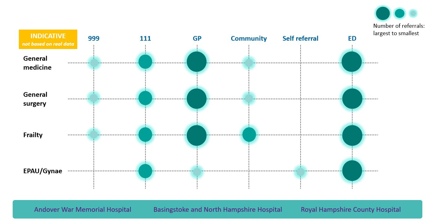 The PSC demand model, developed for a South East NHS Trust